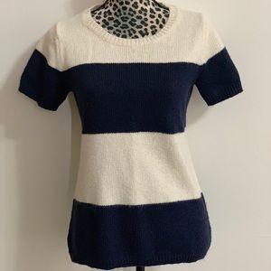 Gap striped, short-sleeved sweater